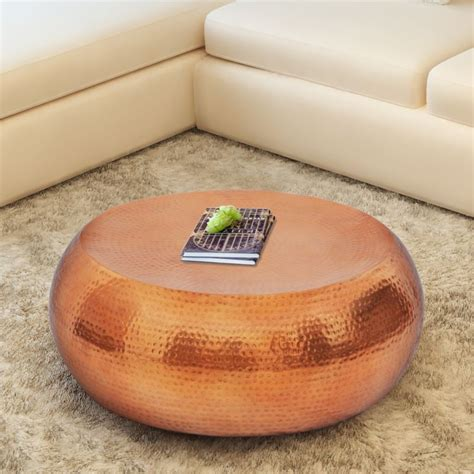 hammered aluminium coffee table hammered aluminium coffee table in copper buy