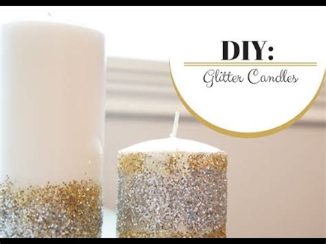 how to make a glitter candle diy home decor 187 the real diy glitter candles moresavannah youtube