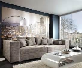 hocker big sofa bigsofa marlen 300x140 cm hellgrau mit sitzhocker m 246 bel