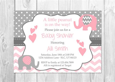 Baby Elephant Shower Invitations by Pink And Grey Elephant Baby Shower Invitation It S A