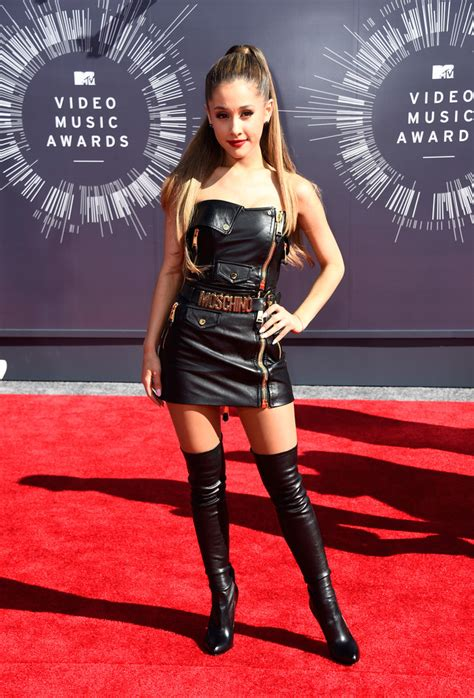 ariana grande leather dress ariana grande clothes looks