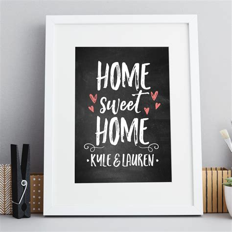 home prints home sweet home chalkboard print inksty