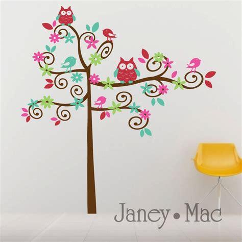Swirl Wall Decals Tree Nursery Vinyl Wall Art Tree With Tree Wall Decals For Nursery Etsy