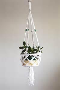 Lemon Duvet Cover Set Macrame Pot Plant Hanging Basket With Green Bead