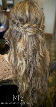 hair down picmia waterfall braid half up half down with curls google