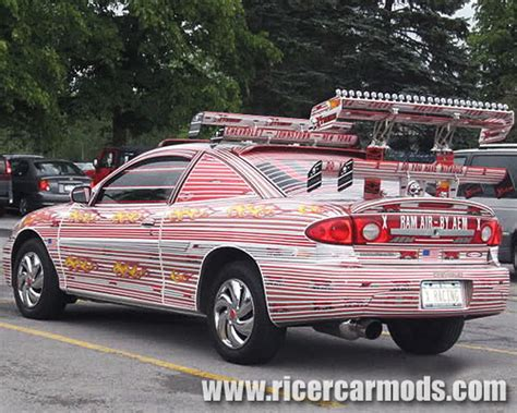 honda ricer wing sticker bombed multi spoiler