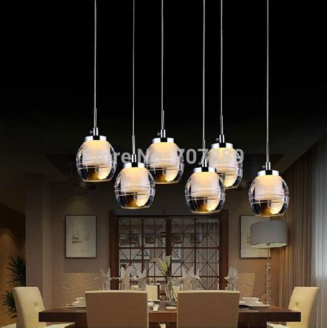 Hanging Dining Room Light Led Pendant Light Acrylic Dining Room Lighting Fixture Lustres Home Decoration 3 6 Heads Hanging