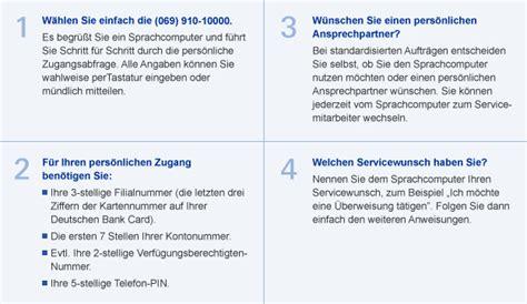 deutsche bank kontostand abfragen telefon banking deutsche bank privatkunden
