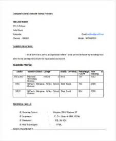 Resume Sles For Freshers Computer Engineers Free Fresher Engineer Resume Templates 6 Free Word Pdf Format Free Premium Templates