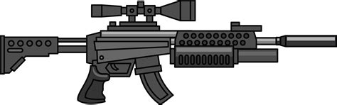 Sniper Gun Police Clip Art Of Gun Clipart 1569 Clipartwork Cool Drawings Of Shooting 2
