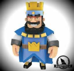 papermau clash royale blue king paper toy bamboogila