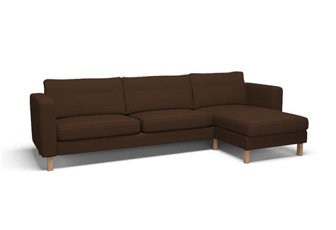 karlstad three seat sofa and chaise longue right cover