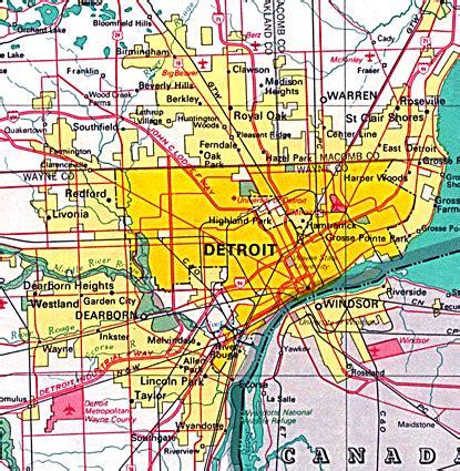 map of detroit michigan maps map detroit