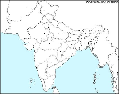 printable version of india map image result for india political map blank india