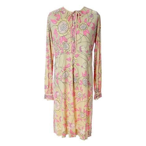 1960s vintage pucci silk jersey dress italy saks fifth