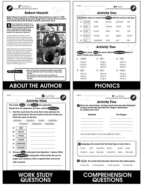 Paper Bag Princess - Novel Study Guide - Grades 1 to 2
