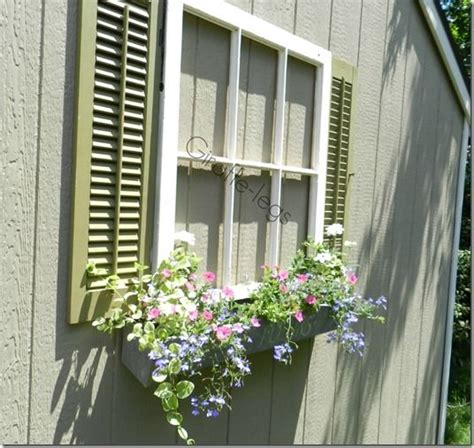 how to add a window to a house faux window window box with shutters fun way to add interest to a blank and