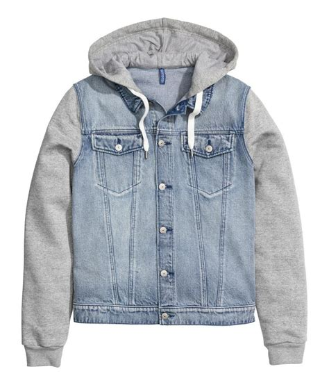 Jaket Hoodies Juventus Blue lyst h m denim jacket with a in blue for