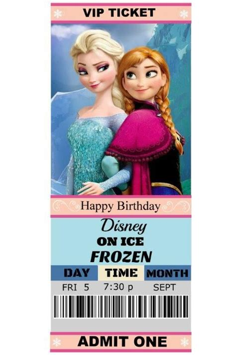 free printable invitations frozen our daughter madison s 6th birthday gift disney on ice