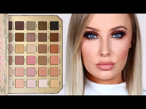 natural collection makeup tutorial too faced natural love palette review tutorial