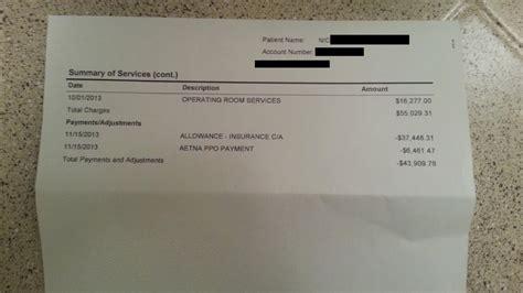 Some guy posts hospital bill online