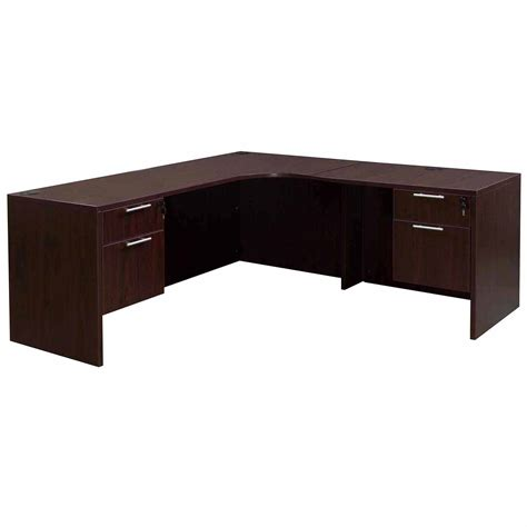 L Shaped Corner Desks Everyday Right Return Laminate Corner Desk L Shape With Computer Corner Mahogany National