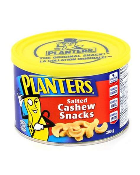 Planters Snacks by Planters Salted Roasted Cashew Snacks Walmart Ca