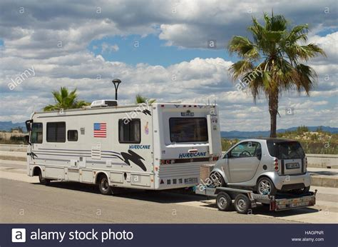 towing smart car winnebago motorhome towing a smart car fortwo on a trailer