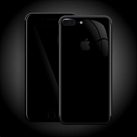 iphone 7 plus jet black high gloss skin wrap decal easyskinz