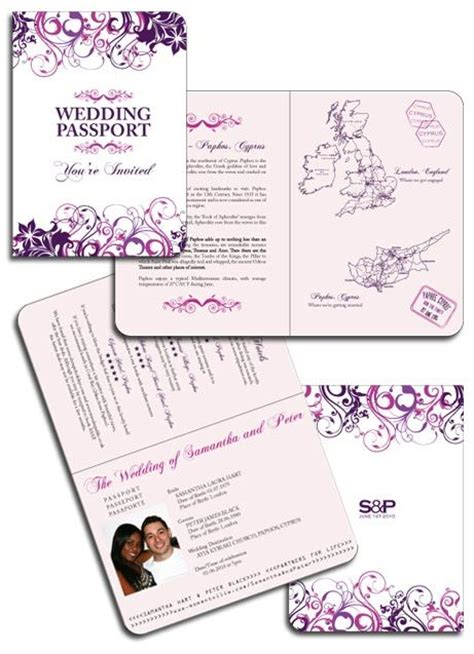 floral passport invitations passport invitations and wedding