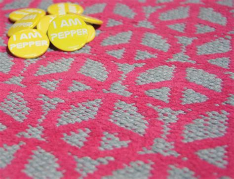 peace rug pink peace rug by the rugs warehouse notonthehighstreet