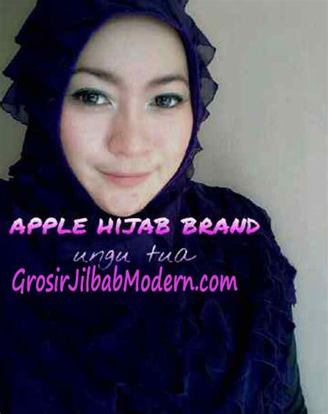 Jilbab Instan Kerudung Syiria Ruffle jilbab syria aleeza ruffle ungu tua grosir jilbab modern