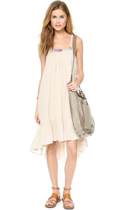 Imported Stripeca Dress lyst free stripe dress blue combo in
