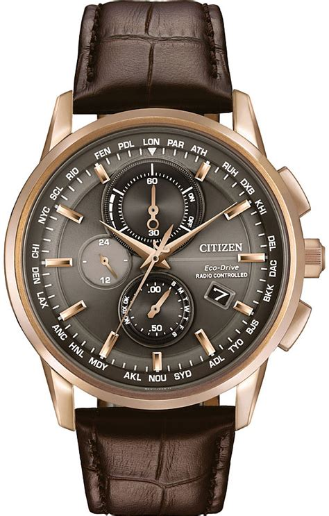 Swiss Army Doubleclock Lightbrown s citizen world chronograph a t atomic at8113