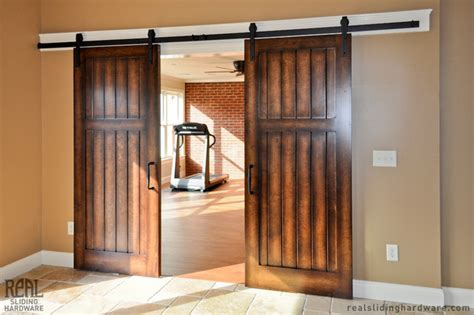 Barn Doors In Homes Home Barn Door Hardware Traditional Home Other Metro By Real Sliding Hardware