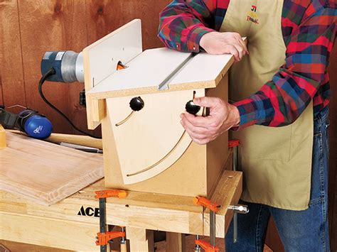 project horizontal tilt top router table woodworking