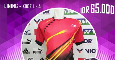 Baju Kaos Olah Raga Victor V203 Baju Pakaian Olah Raga Go Import baju kaos kostum seragam pakaian bulutangkis badminton lining l4 baju bulutangkis badminton