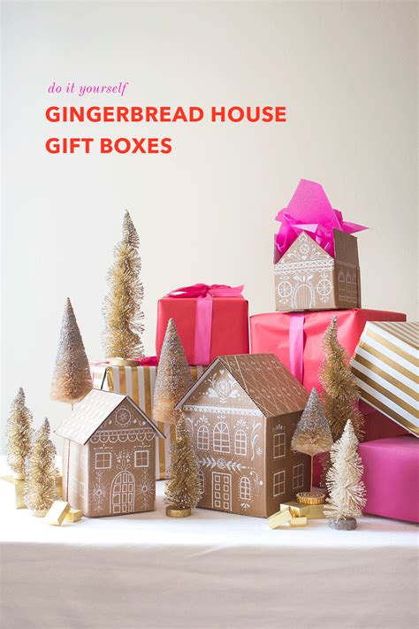 house gifts diy gingerbread house gift boxes