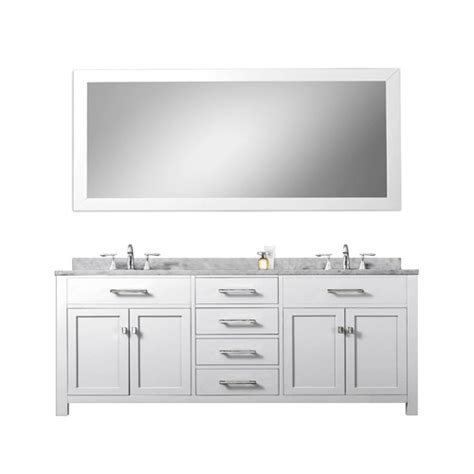 72 inch bathroom countertop madison pure white 72 inch double sink bathroom vanity white marble countertop