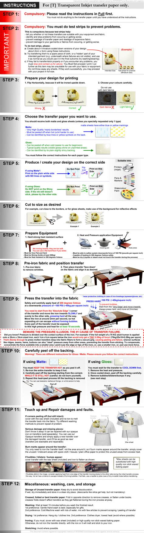 printable iron on transfer paper instructions t 10 sheets blank iron on heat transfer inkjet printer
