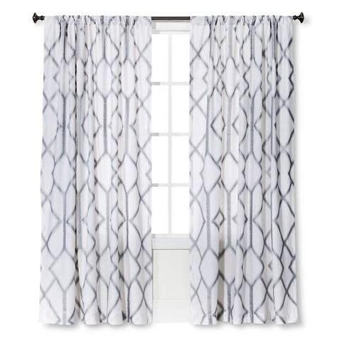 White Trellis Panels Threshold Metallic Trellis Curtain Panel In White