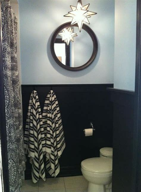 Black Wainscoting Bathroom 13 Best Images About Black Wainscot In Bathroom On