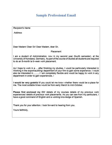 30 professional email exles format templates