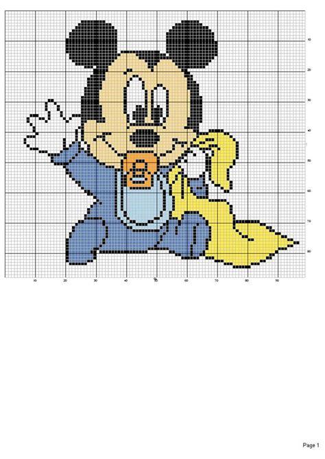 Stelan Baby Mickey schema punto croce mouse schemi vari disney