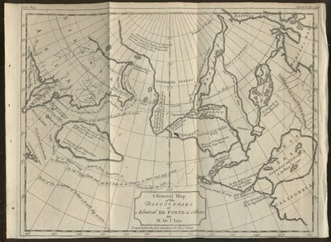 america map in 1754 1754 admiral defonte s map of the northwest passage
