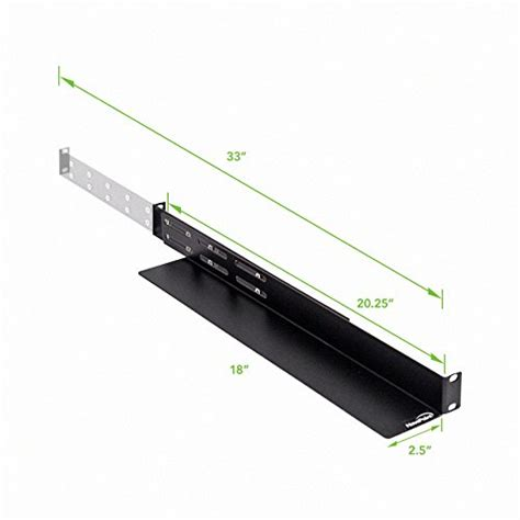 Rack Rails Server by Navepoint Adjustable Rack Mount Server Shelf Shelves Rail