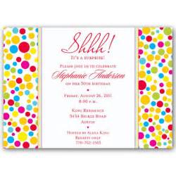 Colorful dots red surprise birthday invitations paperstyle