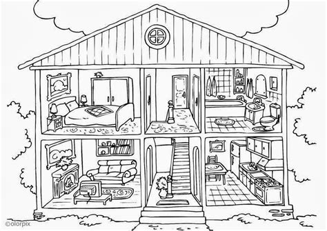 coloring pages for doll house inside dollhouse coloring pages coloring pages