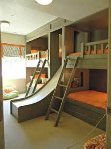 Bunk Bed With Slides Free Bunk Bed Plans With Slide 187 Woodworktips