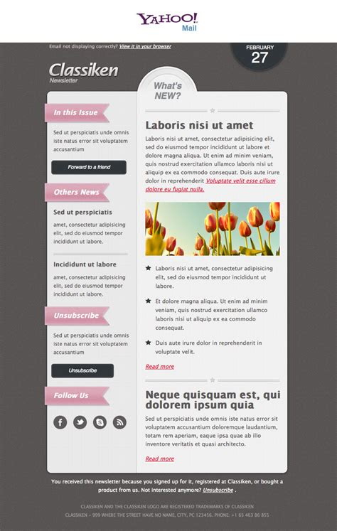newsletter templates html classiken html newsletter template e mail templates